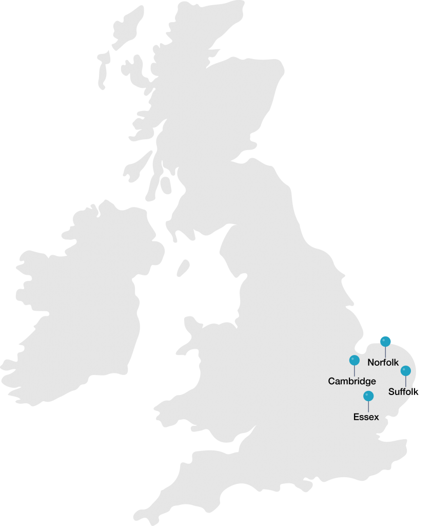 East of England Map